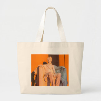 Washington DC Souvenir Lincoln Memorial Sunrise Large Tote Bag