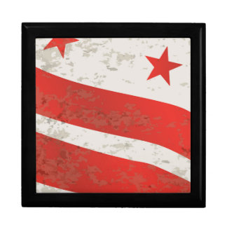 Washington DC State Flag Gift Box