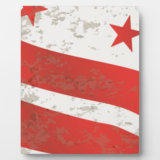 Washington DC State Flag Photo Plaques