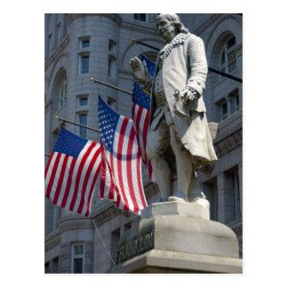 Washington, DC, statue of Benjamin Franklin Postcard