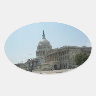 Washington DC Oval Sticker