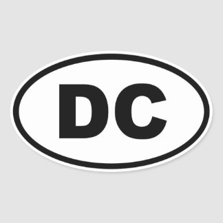 Washington DC Oval Stickers