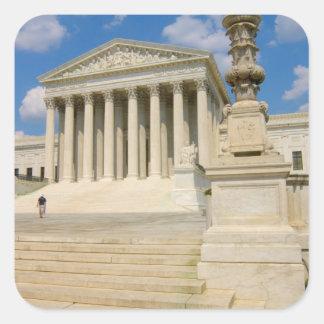 Washington, DC, Supreme Court Building Square Sticker