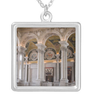 Washington, DC. The Interior of the Thomas 3 Silver Plated Necklace