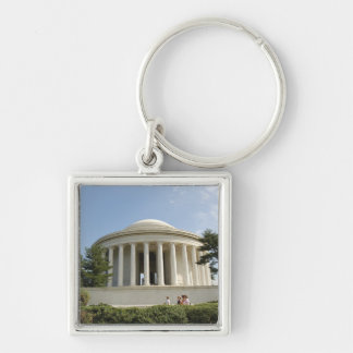 Washington, DC. Thomas Jefferson Memorial Silver-Colored Square Key Ring