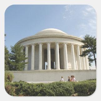 Washington, DC. Thomas Jefferson Memorial Square Sticker