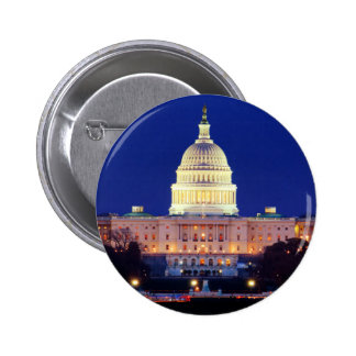 Washington DC United States Capitol at Dusk 6 Cm Round Badge