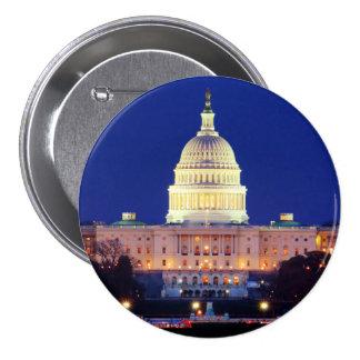 Washington DC United States Capitol at Dusk 7.5 Cm Round Badge