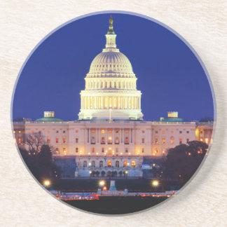 Washington DC United States Capitol at Dusk Beverage Coaster