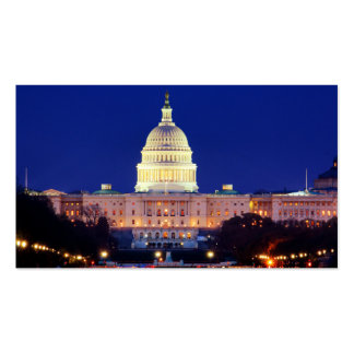 Washington DC United States Capitol at Dusk Pack Of Standard Business Cards