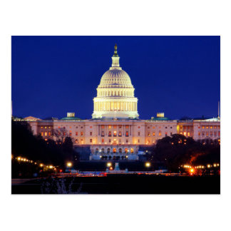Washington DC United States Capitol at Dusk Postcard