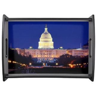 Washington DC United States Capitol at Dusk Serving Platter