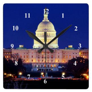 Washington DC United States Capitol at Dusk Wall Clocks