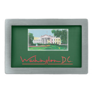 Washington DC - White House Rectangular Belt Buckle