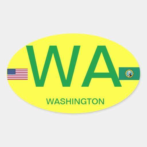 Washington* European-style Oval Sticker+