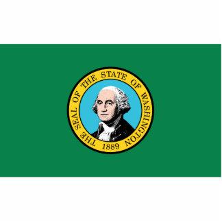 Washington Flag Keychain Cut Out