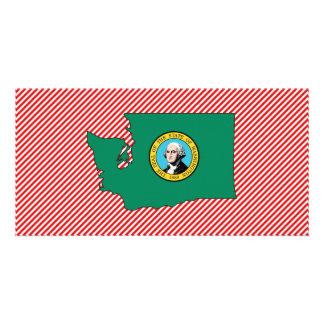 Washington Flag Map Customised Photo Card