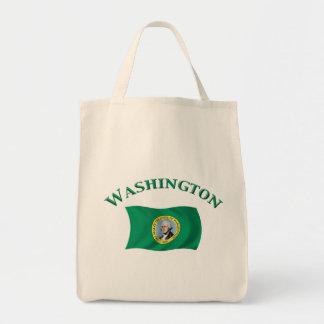 Washington Flag Grocery Tote Bag