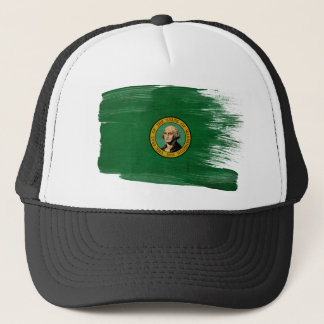 Washington Flag Trucker Hat