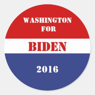 Washington for Joe Biden 2016 Round Sticker