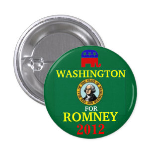 Washington for Romney 2012 3 Cm Round Badge