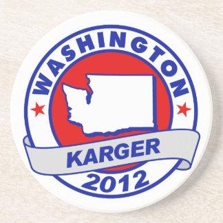 Washington Fred Karger Coaster