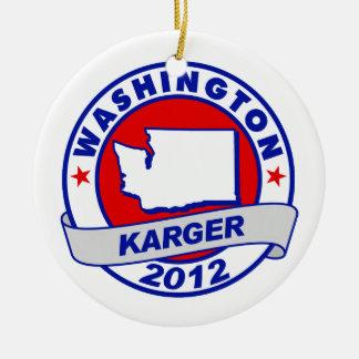 Washington Fred Karger Christmas Tree Ornaments