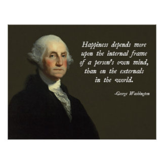 Washington Happiness Quote Poster