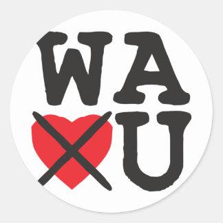 Washington Hates You Round Sticker