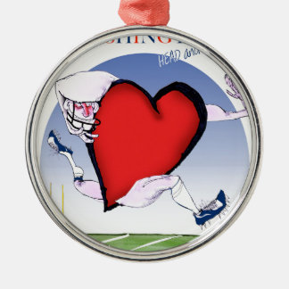 Washington head heart, tony fernandes christmas ornament