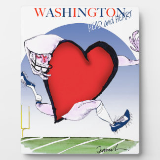 Washington head heart, tony fernandes display plaque