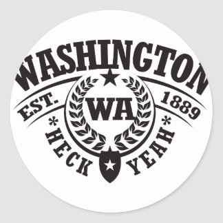 Washington Heck Yeah Est 1889 Sticker