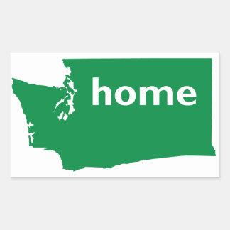 Washington Home Rectangular Sticker