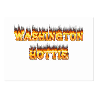 washington hottie fire and flames business cards