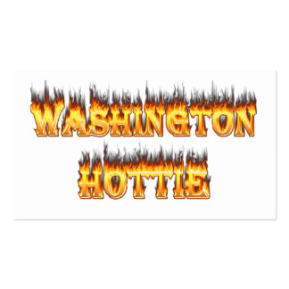 washington hottie fire and flames pack of standard business cards
