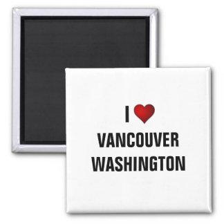 WASHINGTON: I LOVE VANCOUVER SQUARE MAGNET