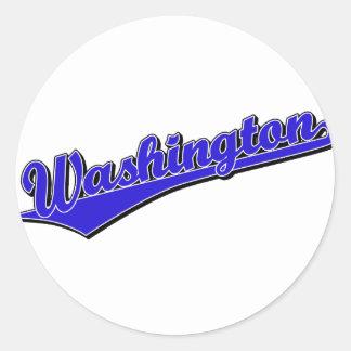 Washington in Blue Stickers