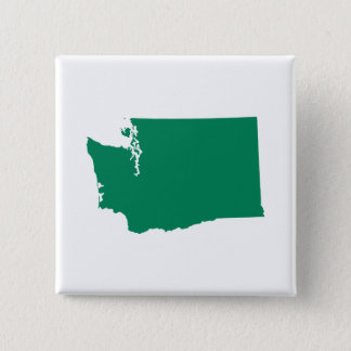 Washington in Green 15 Cm Square Badge