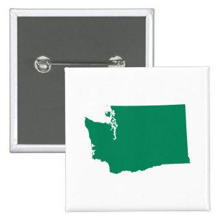 Washington in Green 15 Cm Square Badge
