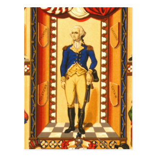Washington in Military Costume of the Revolution Post Card