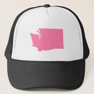 Washington in Pink Trucker Hat
