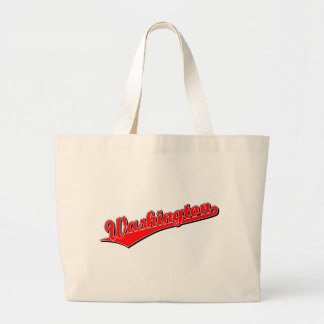 Washington in Red Tote Bags