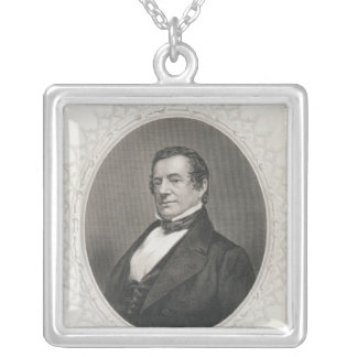Washington Irving Silver Plated Necklace