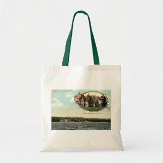 Washington Irving, Tarrytown, NY Vintage c1915 Canvas Bag