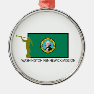 WASHINGTON KENNEWICK MISSION LDS CTR Silver-Colored ROUND DECORATION