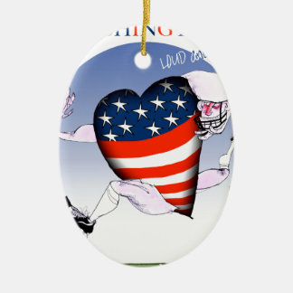 Washington loud and proud, tony fernandes ceramic oval decoration