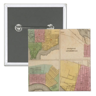 Washington Louisville and Jeffersonville 15 Cm Square Badge