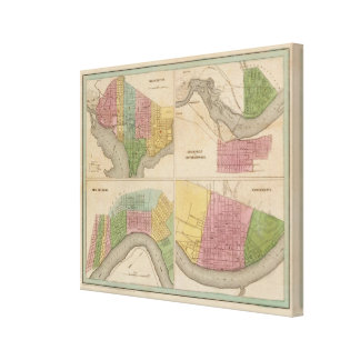 Washington Louisville and Jeffersonville Canvas Print