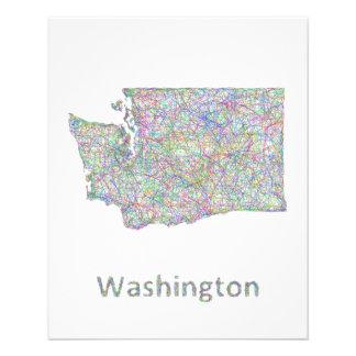 Washington map 11.5 cm x 14 cm flyer