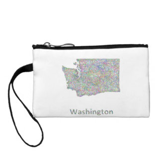 Washington map change purse